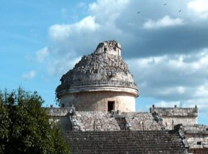 The Observatory at Chichen Itza, Yucatan