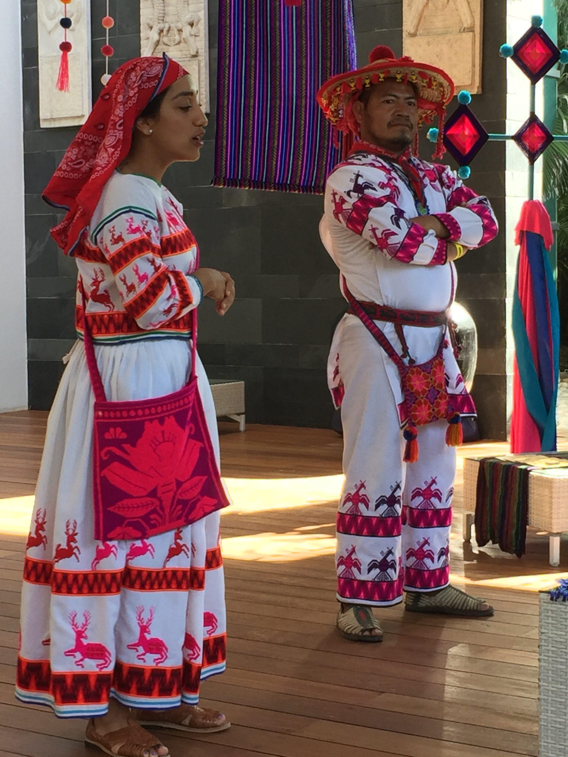 Wixárikas in Traditional Dress